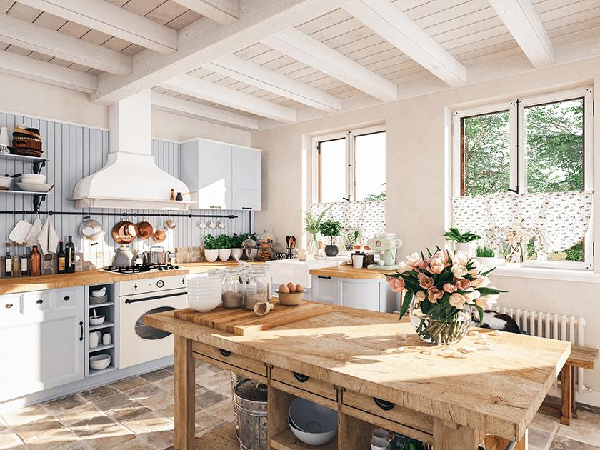 cottage interior design kitchen